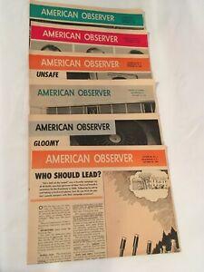 American-Observer-1968-Vol-38-Lot-of-6-Nixon-Campaign-Viet-Nam