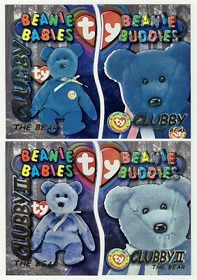 """5/"""" Jingle Beanie 2001 MWNT Ty 1999 HOLIDAY TEDDY Blue Bear Stitched Nose Var"""