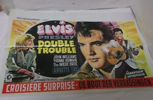 60er Jahre Filmplakat Elvis Presley Double Trouble Belgien 70x46 rar 60s Movie