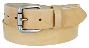Natural-Finish-Full-Grain-Leather-Belt-with-Roller-Buckle-1-1-2-034-Wide