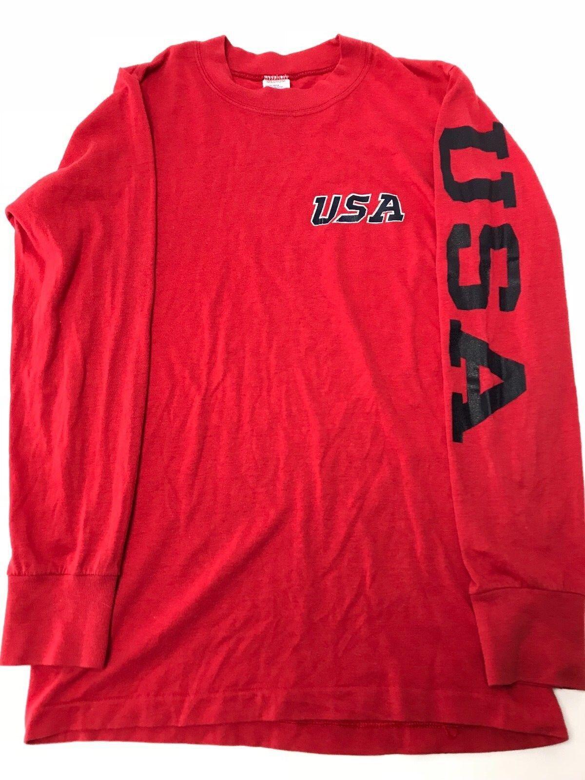 Vintage 1980s USA Champion Long Sleeve Single Stitch Shirt