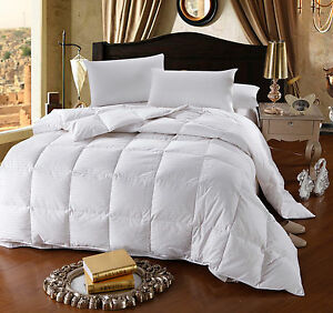 600-Fill-Power-Striped-White-Goose-Down-Comforter-Oversized-All-Season-300TC