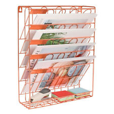 Details about  /Superbpag Hanging File Organizer 6 Tier Wall Mount Document Letter Tray Black