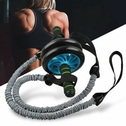 Ab Roller Wheel with Pull Rope Home Workout Abdominal Exercise Training Fitness