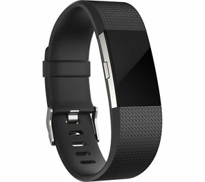 FITBIT Charge 2 Fitness b& Black with Bluetooth & Splashproof Size: Small