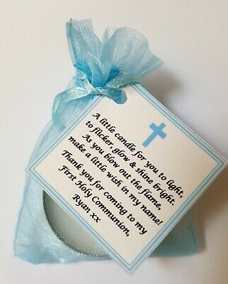 FIRST HOLY COMMUNION CANDLE FAVOURS GIFTS GUEST FAVOURS Christening Baptism | eBay
