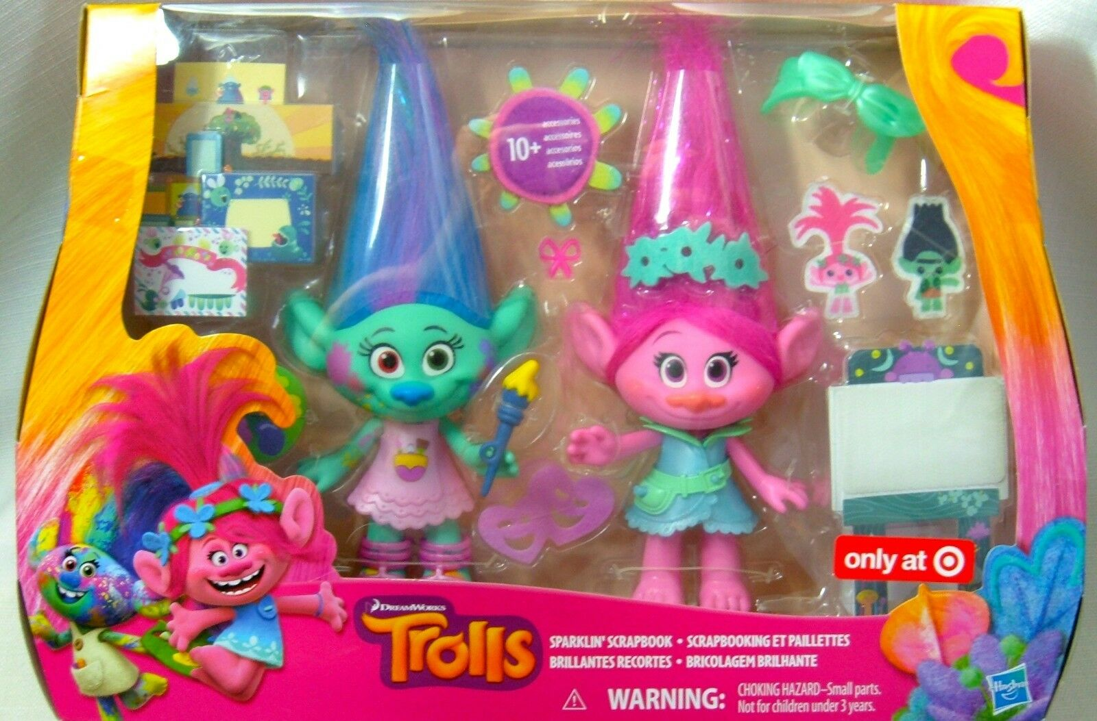Hasbro Trolls Sparklin' Scrapbook Doll Set Dreamworks Exclusive Poppy Poppy Poppy Harper NIB a6919f