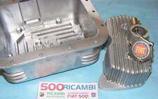 FIAT 500 F/L/R 126 COPPA OLIO MOTORE ALLUMINIO 3,5KG + COPERCHIO PUNTERIE +TAPPO