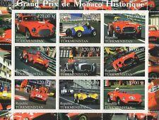 GRAND Prix STORIA DI MONACO automobile Sport Racing 2000 Gomma integra, non linguellato FRANCOBOLLO SHEETLET