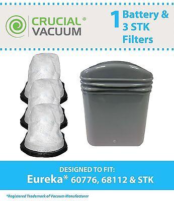 4 REPL Eureka 96B 162A 164B 169A STK Vacuum Filters Part # 61544 61544A