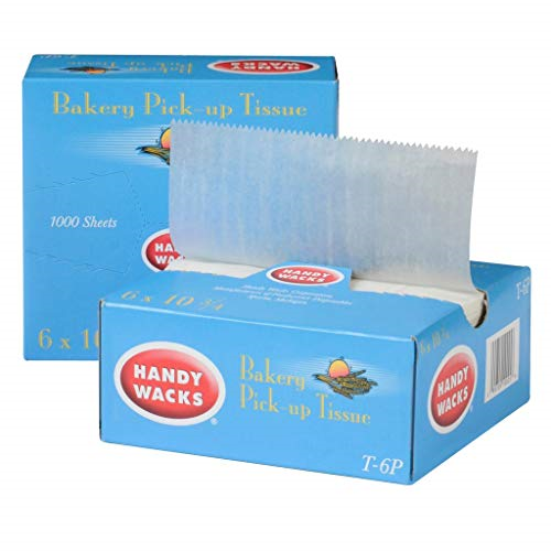 Interfolded Dry Wax Paper grease proof deli paper 500 Count 12 Inch x 10 3//4 Inch-
