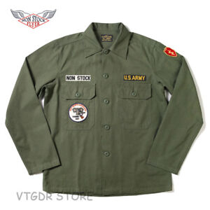 NON-STOCK-OG-107-Utility-Fatigue-Shirt-Men-039-s-WW2-US-Army-Military-Uniform-Jacket