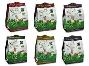 120 x Bio + Fairtrade kompostierbare Kaffeekapseln Puro, Nespresso kompatibel