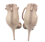 thumbnail 6 - Womens Ladies Beige Faux Suede High Heel T-Bar Party Sandals Shoes Size UK 7 New