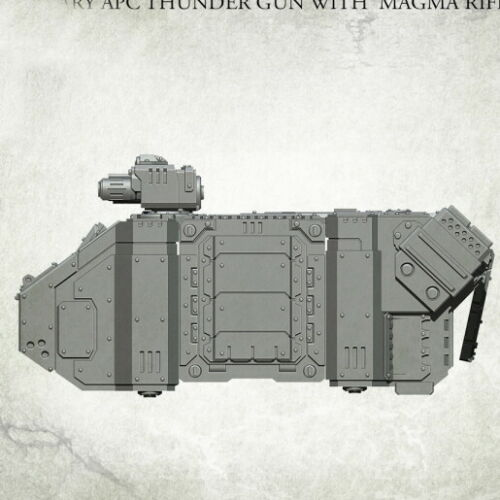 Legionary APC Thunder Gun with Magma Rifle kromlech Resin krvb 079