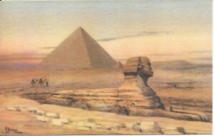 The-Great-Pyramid-of-Giza-Egypt-Artist-Signed-AYOUB-BISHAI-Unused-R46