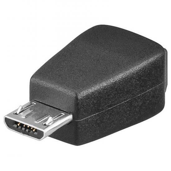 21.st - Link Adaptateur USB 2.0 Connecteurs Micro B Mâle - Mini B Femelle