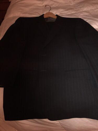 Classic Italian Suit- Talia Charcoal Pin Stripe Su
