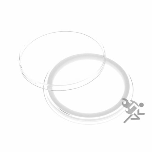 25 Air-tite 41mm White Ring Coin Holder Capsules