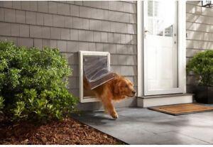 Image Is Loading Super Large Ruff Weather Framed Pet Door Dual