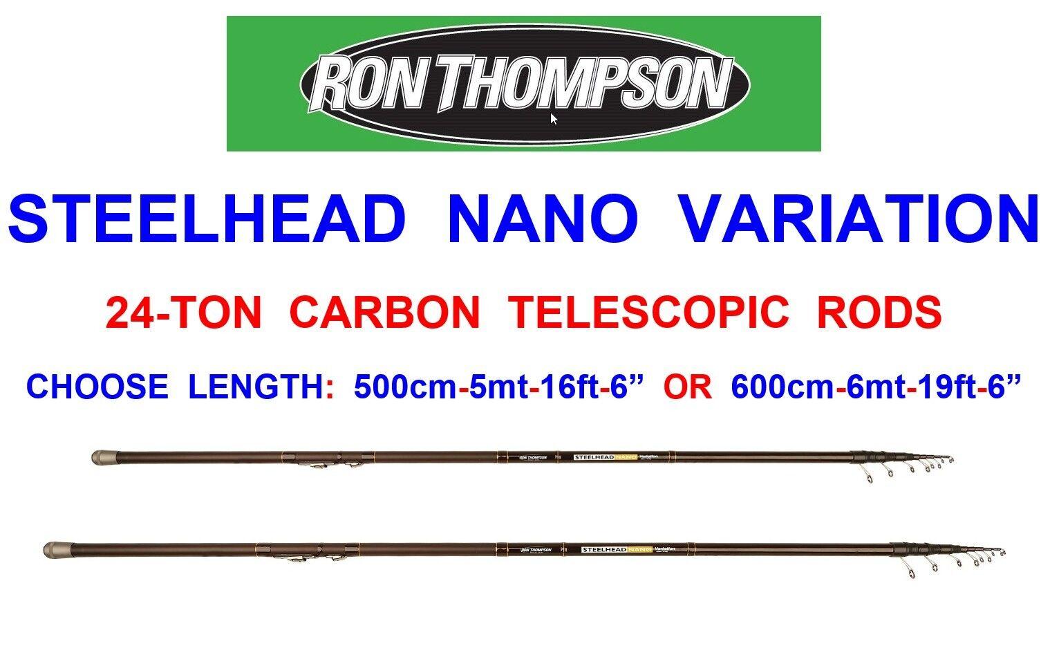 RON THOMSON STEELHEAD NANO VARIABinden 24-TON AutoBON TELESCOPIC DAPPING ROD POLE