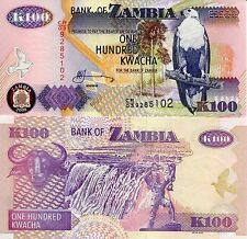 Zambia 100 Kwacha Banknote World Paper Money UNC Currency PICK p-38g Bird Eagle