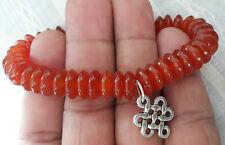 Carnelian Mystic Knot Tibetan Stone Bracelet 8mm ♥Regenerates♥ Vitality♥Joy♥