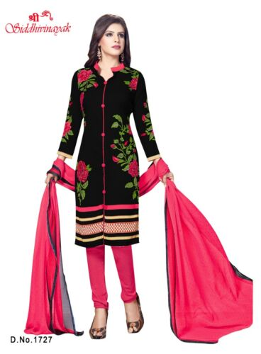 Salwar Kameez French Crepe Unstitched  Punjabi Suit Synthethic Pakistan Ethnic