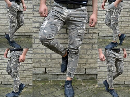 Army Ghetto Jeans D Fit Homme Motard Rue Camouflage Skinny Tubes HqwYv5