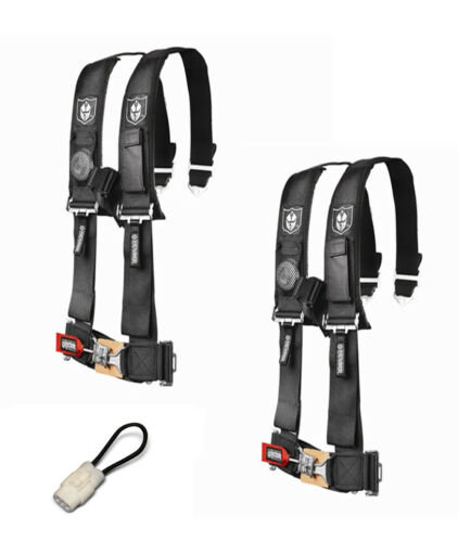 """Pro Armor 4 Point Harness 3/"""" Pads Seat Belt Pair Bypass Black YXZ 1000R 2017+"""
