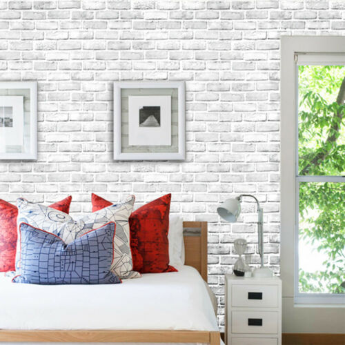3D  Brick Sr Rustic Effect Self-adhesive Wall Sticker Home Decor