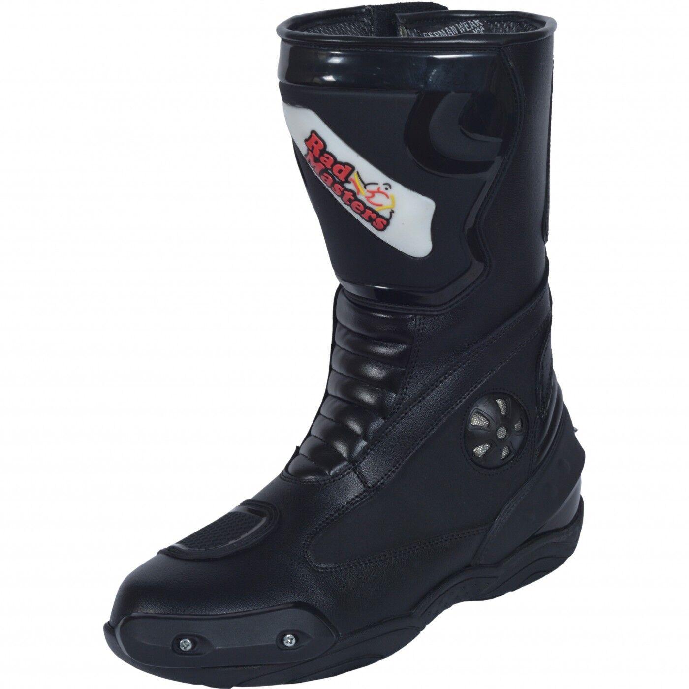 German Wear, motocicleta botas moto sport touring botas negro 32cm
