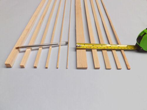 "18/"" 25 lengths of 450mm STRIP // BLOCK BALSA WOOD Various Sizes"