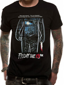 Friday-The-13th-Movie-Poster-T-Shirt-Classic-Horror-Film-OFFICIAL-NEW-S-M-L-XL