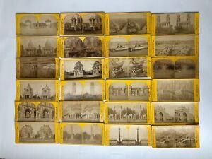 24 VUES PHOTOS STEROSCOPIQUES EDITEES PAR J HAUTECOEUR MONUMENTS PARIS G624