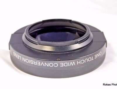 49mm Genuine Sony Vcl-es06 X 0.6 One Touch Wide Conversion Lens (9205037)