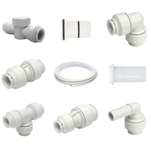 Elbow Tee Coupling Fittings Various Items Clips John Guest 15mm Speedfit