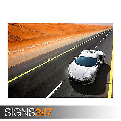 0174 W MOTORS LYKAN HYPERSPORT Car Poster Poster Print Art A0 A1 A2 A3 A4