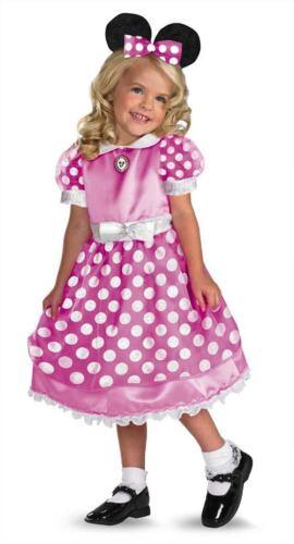Girls Todd Mickey Club Pink Minnie Mouse Dress Costume