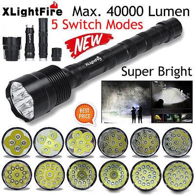 XLightFire 28000 Lumens 11x XML T6 5 Mode 18650 Super Bright LED Flashlight USA