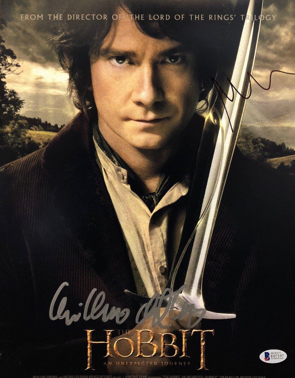 Guillermo Del Toro & Martin Freeman Signed 'The Hobbit' 11x14 Photo BAS E07197
