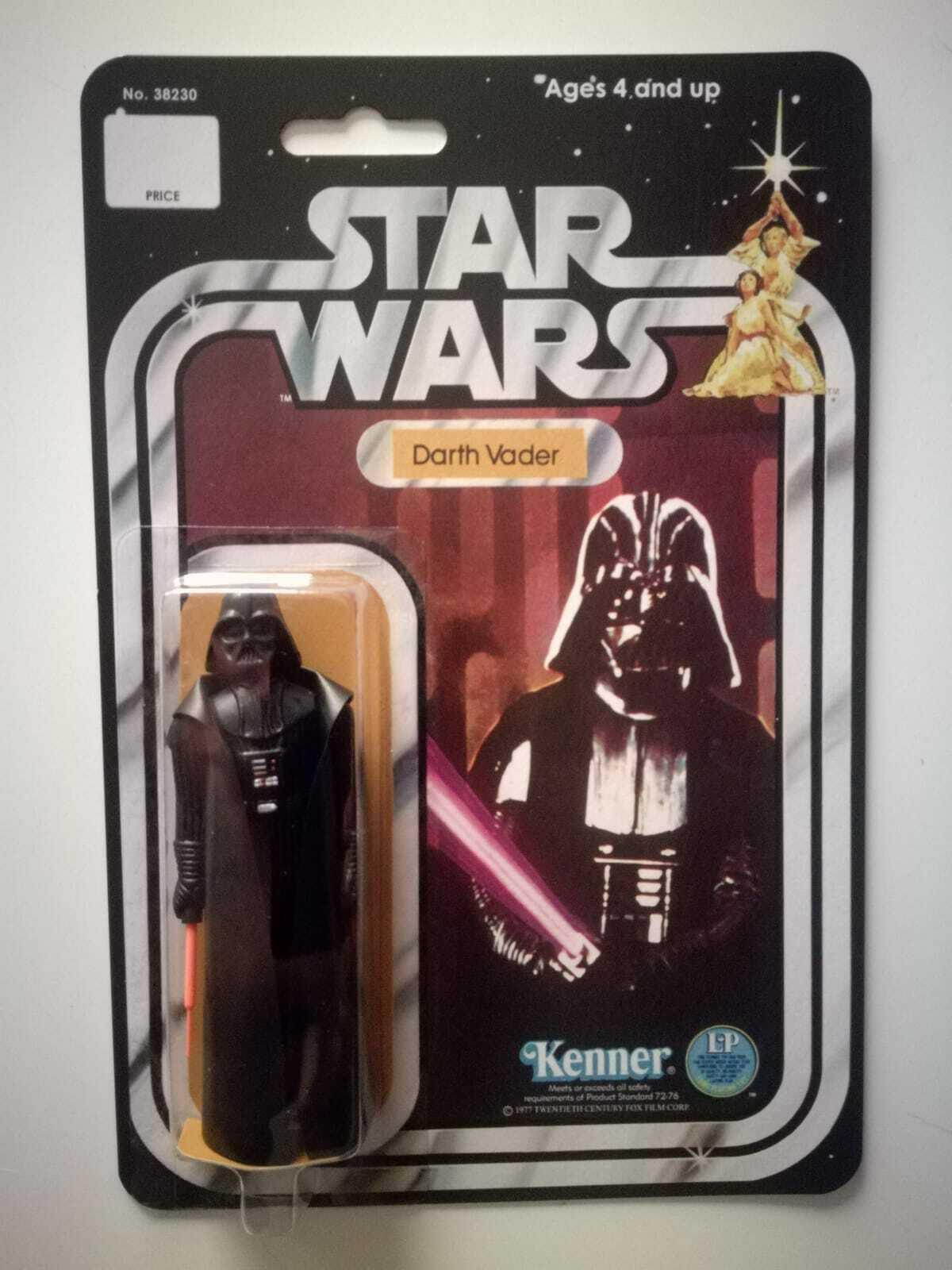 Darth Vader estrella guerras Kenner Vintage Original 1977 nuovo Reautod autodtavola