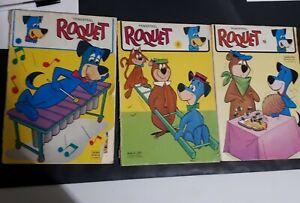 Roquet-Trimestriel-French-Comic-1977-Lot-Of-3-Sagedition-8-9-10