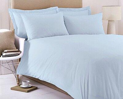 5* Hotel Quality Egyptian Cotton Plain Dyed Duvet Cover & Pillow Case