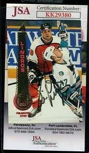 Eric Lindross JSA Coa Hand Signed 1994 Pinnacle Autograph