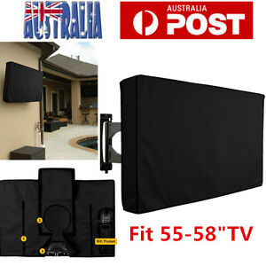 55-58 Inch Waterproof Dustproof TV Cover Outdoor Patio Flat Television Protector