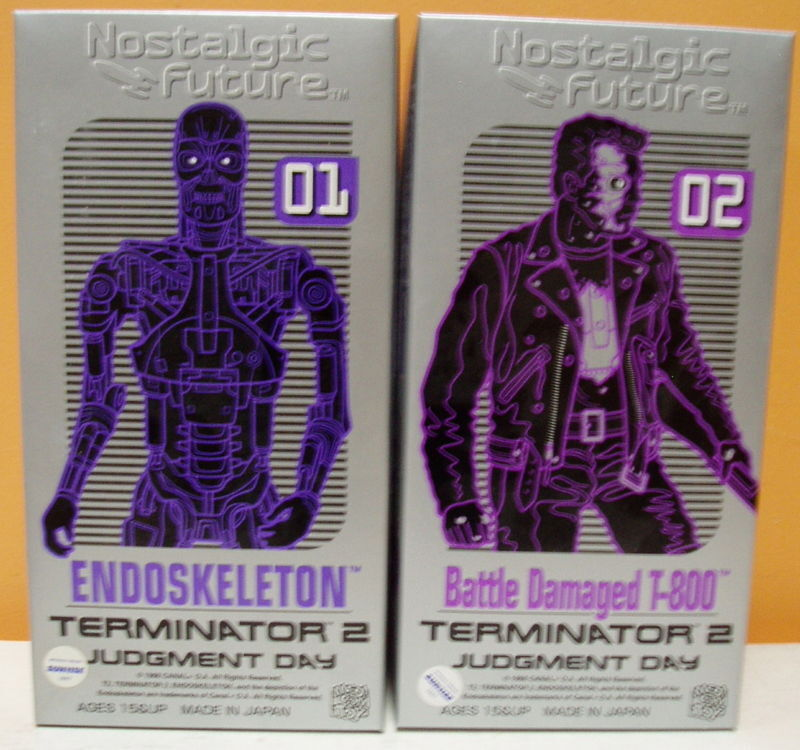 MEDICOM TERMINATOR 2 T 800 ENDOSKLETON SET OF TWO TIN WIND UPS VINTAGE RARE