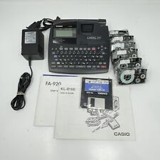Casio Ez Label Printer Kl 8100 Plus With Ac Adapter Large Display Extra Labels