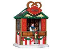 Lemax Village Collection Pretzel Stand 43094 In Original Box