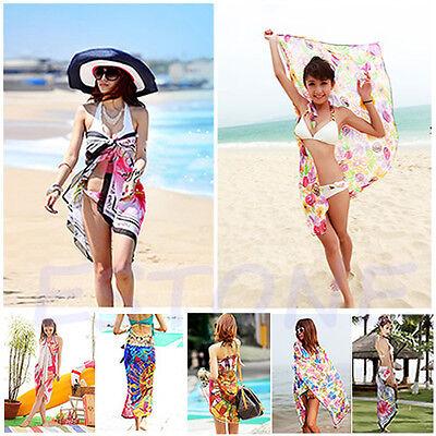 Sexy Fashion Chiffon Wrap Dress Sarong Beach Bikini Swimwear Cover Up Scarf